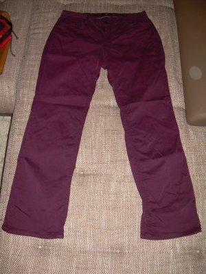 bordeaux rote Bootcut Hose von HIS Gr. 44 L33 Jeans-Stil H.I.S.