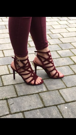Bordeaux rote highheels von forever 21