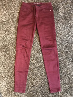 Orsay High Waist Jeans bordeaux