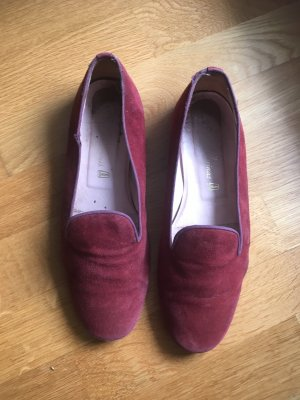 Bordeaux rote Pretty Ballerinas aus Wildleder