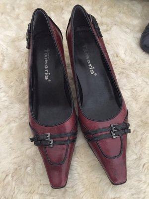 Tamaris Pointed Toe Pumps black-bordeaux