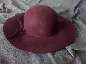 H&M Chapeau en feutre bordeau laine