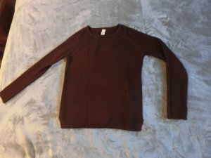 Bordeaux Roter Strickpulli