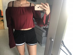 Bordeaux rotes Brandy Melville  Bluse/top