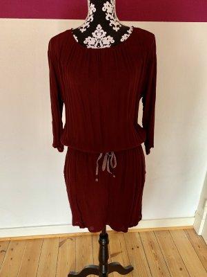 Bordeaux-rotes Kleid von edc