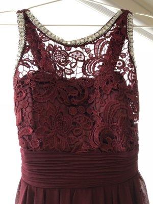 Bordeaux rotes Kleid von Eva & Lola
