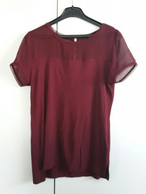 Bordeaux Rotes T-Shirt