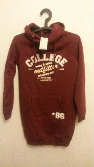 Bordeaux Sweatkleid College Gr. Xs