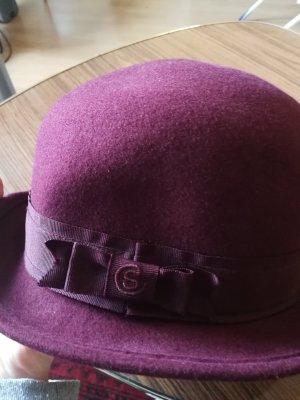 Vilten hoed bordeaux