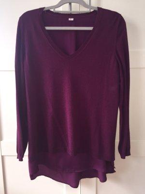 Bordeauxfarbener Pullover