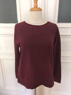 Basic Crewneck Sweater bordeaux