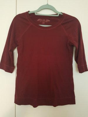 Bordeauxfarbenes dunkelrot Shirt Grösse 40