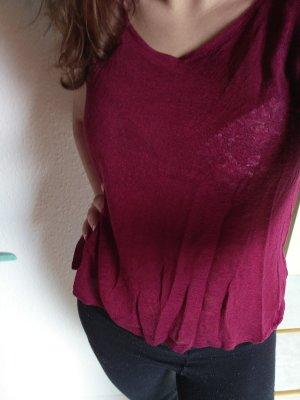 Bordeauxfarbenes H&M Shirt