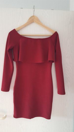 bordeauxfarbenes Kleid von SheInside in S