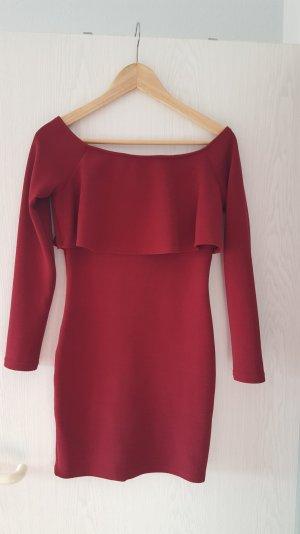 bordeauxfarbenes Kleid von SheInside in S
