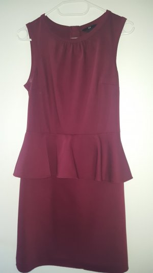 H&M Peplum jurk bordeaux