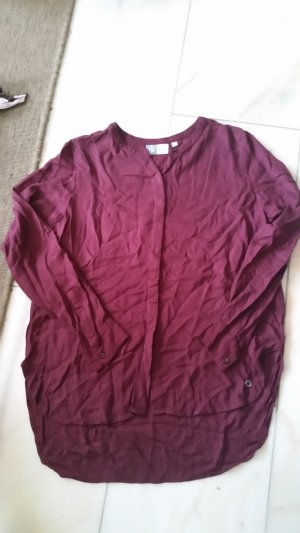 Blue Motion Long Sleeve Blouse carmine-bordeaux