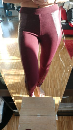 Legging bordeau