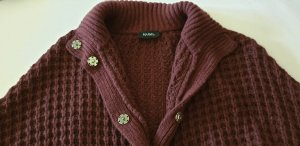 Max & Co. Knitted Poncho bordeaux new wool
