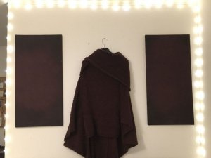 Bordeauxroter Poncho von pull&bear