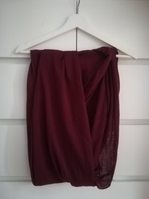 Primark Bufanda tubo rojo oscuro-burdeos