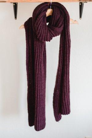 WE Fashion Écharpe en tricot bordeau