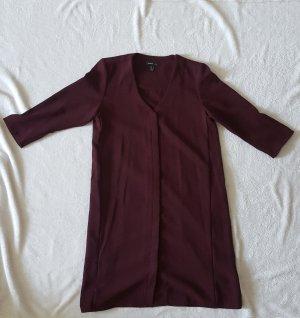 bordeauxrotes Kleid. vielfältig kombinierbar für das Büro oder lässig im Alltag