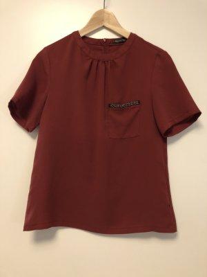 Bordeauxrotes Shirt für Business Casual Style