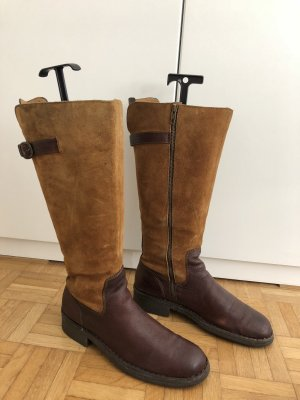 Born Germany Riding Boots dark brown-cognac-coloured