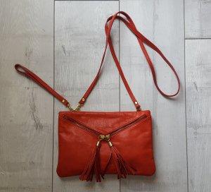 Borse in Pelle Handtasche, Cluch, rot, Echtleder ♥️ NEU
