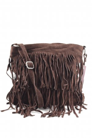 Borse in Pelle Italy Fringed Bag brown casual look