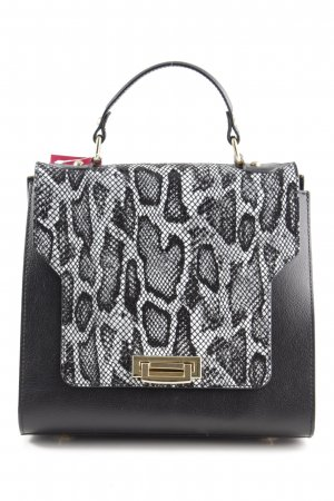 Borse in Pelle Italy Carry Bag black-light grey animal pattern business style