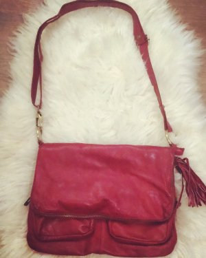 Borse in Pelle Italy Handbag carmine leather
