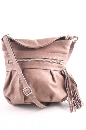 Borse in Pelle Italy Minitasche pink-nude Casual-Look
