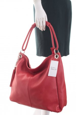 Borse in Pelle Italy Schultertasche rot Casual-Look