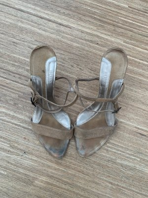 Hugo Boss Strapped Sandals camel leather