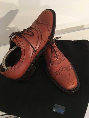 Hugo Boss Wingtip Shoes cognac-coloured leather