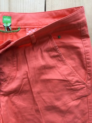 BOSS Green | Knallorange-farbene 7/8 Shorts