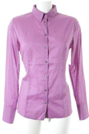 Boss Hugo Boss Hemd-Bluse flieder klassischer Stil