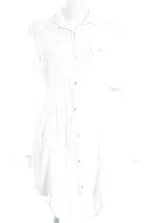 Boss Hugo Boss Hemd-Bluse weiß-wollweiß Karomuster klassischer Stil