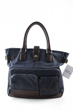 Boss Hugo Boss Carry Bag dark blue-dark brown athletic style
