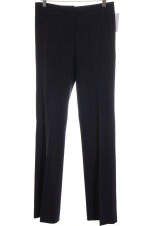 Boss Hugo Boss Low-Rise Trousers dark blue-natural white striped pattern