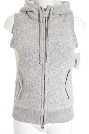 Boss Hugo Boss Hooded Vest light grey flecked simple style