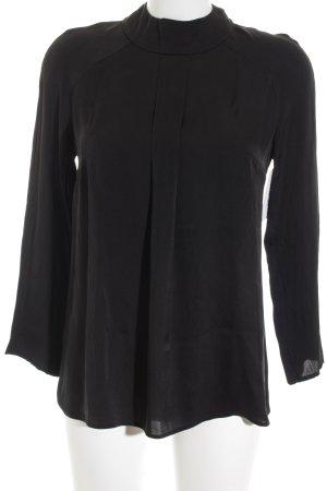 Boss Hugo Boss Langarm-Bluse schwarz klassischer Stil