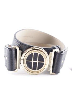 Boss Hugo Boss Cintura di pelle nero-oro elegante