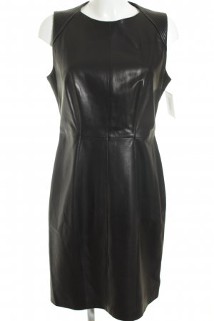 Boss Hugo Boss Leren jurk zwart zakelijke stijl