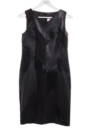 Boss Hugo Boss Leren jurk zwart elegant