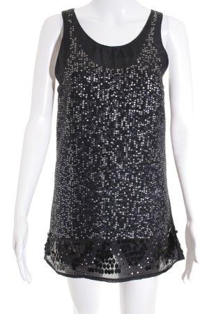 Boss Hugo Boss Minikleid schwarz-silberfarben extravaganter Stil