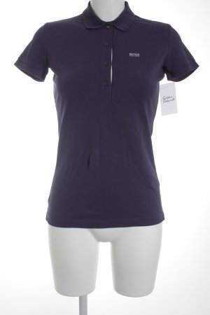 Boss Hugo Boss Polo-Shirt lila-neongrün Casual-Look