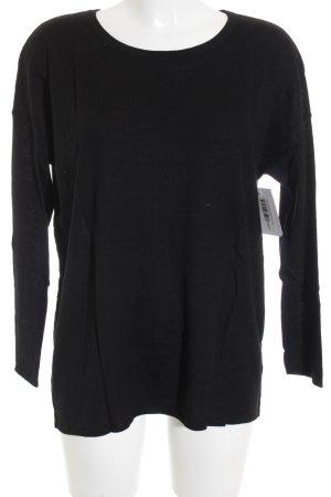 Boss Hugo Boss Rundhalspullover schwarz schlichter Stil
